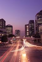 千葉県 幕張のハイテク通りの夜景