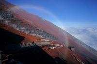 山梨県/静岡県 富士山・八合目での虹
