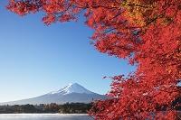 山梨県 河口湖畔と富士山