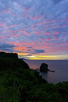 北海道 茜色の夕景