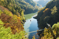 長野県 天竜峡 吊り橋と川下り