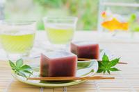 水羊羹と冷茶 夏の食