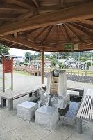 静岡県 伊豆の国市 足湯 湯らっくす公園