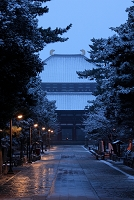 奈良県 東大寺 雪の朝の大仏殿