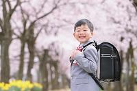 桜と笑顔の新入生