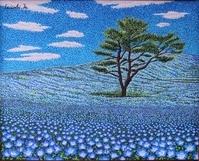 ネモフィラの丘の春