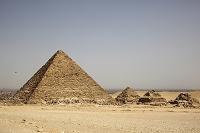 エジプトの風景 カイロ ギザのピラミッド
