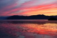 滋賀県 夕焼けの琵琶湖