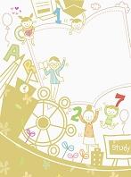 勉強をする家族のイラスト