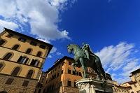イタリア フィレンツェ シニョーリア広場 コジモ1世騎馬像