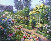 デイヴィッド・ロイド・グローバー 「A SUMMER EVENING ROSE GAR...