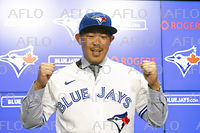 MLB:山口俊 ブルージェイズ入団会見