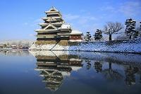 長野県 雪の松本城
