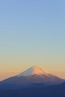 山梨県 丸山林道 夕日に染まる富士山