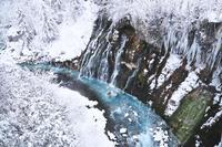 北海道 白ひげの滝の冬