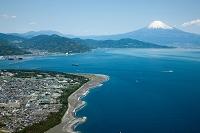 三保の松原より駿河湾と富士山