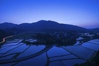 大分県 田染荘夕景