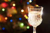 クリスマスのグラス