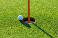 ゴルフボールとホール