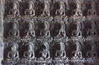 インド アジャンター石窟群 第7窟 仏堂前室 千仏像