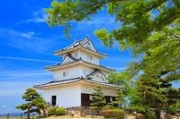 香川県 丸亀城 天守閣と本丸
