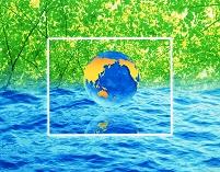 白枠の中の地球