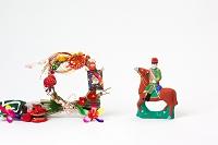 小幡土人形馬乗り鎮台と正月飾り