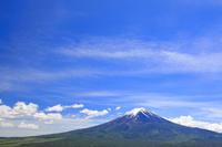 山梨県 残雪, 富士山 青空