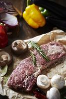 牛肉と材料