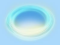 輪を描く光線