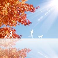 秋のジョギング イラスト
