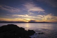 京都府 夕日ヶ浦の夕景と日本海