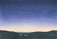 モンゴル・夏の夕闇