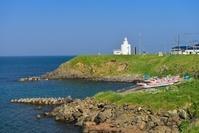 北海道 納沙布岬灯台と漁船