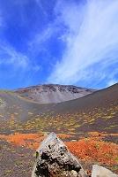 静岡県 富士山 宝永第二火口底の火山弾と第一火口