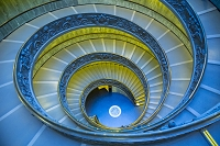 ヴァチカン市国 ヴァチカン美術館 螺旋階段
