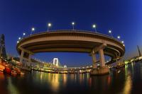 東京 レインボーブリッジの夕景