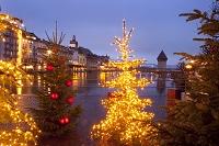 スイス ルツェルン クリスマスイルミネーション