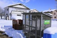 新潟県 豪雪地帯上越市の屋根付きごみ収積所