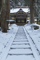 福井県 雪の永平寺の唐門