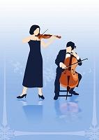 チェロとバイオリンの演奏会