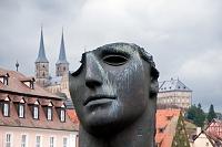 ドイツ バンベルク 橋の袂の現代彫刻