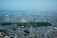 大阪府 百舌鳥(大仙陵古墳)周辺より堺の街並み