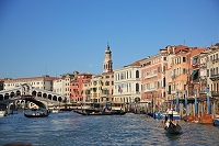 イタリア ヴェネツィア 大運河とリアルト橋