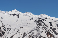 五龍スキー場より白馬三山を望む