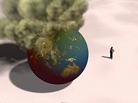 炎上する地球
