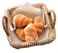 カゴに入ったロールパン