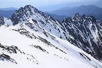 長野県 奥穂高岳から望む前穂高岳