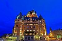 カナダ ケベック 夕暮れのシャトーフロントナック