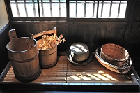 長野県 台所の流し(旧樋口家住宅)